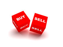 Buy and sell blocks isolated on white background. Buy and sell blocks. red blocks spelling buy and sell words isolated on white background Stock Photo