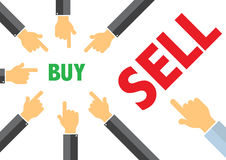 Buy, sell - buying selling concept illustration Stock Photo