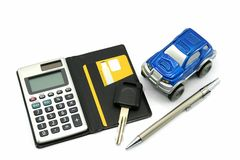 Buy Sell Rent a Car. For finance concept royalty free stock images