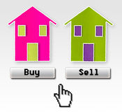Buy or sell concept image Stock Photography