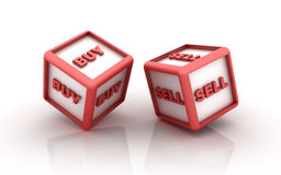 Free Buy Sell Cubes Stock Image - 30394921