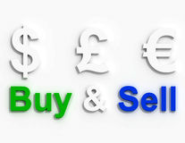 Buy and sell currency Royalty Free Stock Images