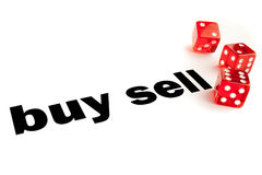 Buy or sell decision Stock Images