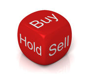 Buy sell hold cube concept illustration Stock Photo