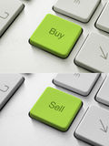 Buy Sell Key. Buy and sell button on the keyboard. Toned Image Royalty Free Stock Image