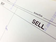 Buy and sell order note Stock Images