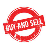 Buy And Sell rubber stamp Stock Photography