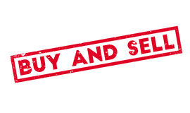 Buy And Sell rubber stamp Stock Image