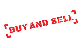 Buy And Sell rubber stamp Stock Images