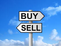 Buy Sell Signpost Stock Photos