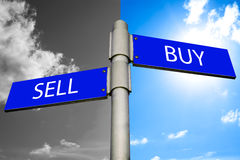Buy and sell signs Stock Photos