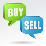 Buy and Sell Speech Bubble Royalty Free Stock Images