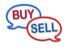 Buy and sell stocks symbol Royalty Free Stock Photos