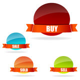 Buy and sell tags Stock Images