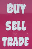 Buy sell trade. Buy sell or trade sign royalty free stock photos