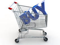 BUY. Shopping Cart with the Word BUY in the cart Stock Photos