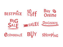 Buy and shopping design for web and banners. Vector illustration Stock Photography