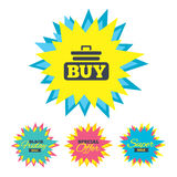 Buy sign icon. Online buying cart button. Royalty Free Stock Photo