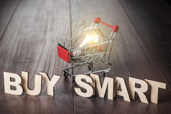 Buy smart concept Stock Image