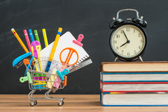 Buy some school supplies on time for back to school. Need buy some school supplies on time for back to school Stock Photography