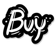 Buy stick message Royalty Free Stock Photo