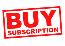 BUY SUBSCRIPTION Stock Photography