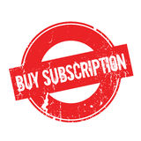 Buy Subscription rubber stamp Stock Photo