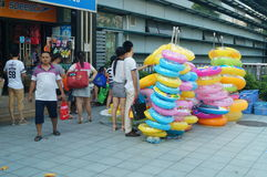 Buy swimming laps. People in the purchase of swimming laps at the Baoan stadium, Shenzhen, china Royalty Free Stock Photos