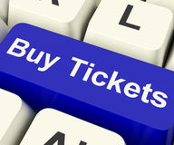 Buy Tickets Computer Key Showing Concert Or Festival Admission P Stock Images