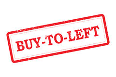 Buy To Left Red Rubber Stamp Stock Photography