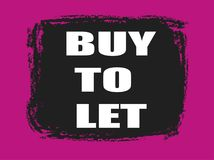 Buy to let banner. Buy to let pink and black banner Stock Photo