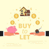 Buy-to-let concept design. Mortgage loan or letting out real est Royalty Free Stock Photos