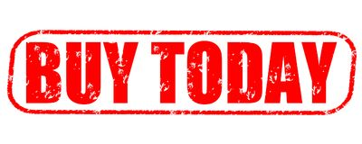 Buy today stamp. Buy today red stamp on white Royalty Free Stock Photos