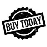 Buy Today rubber stamp Stock Image