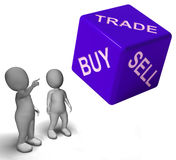 Buy Trade And Sell Dice Represents Business And Commerce Stock Image