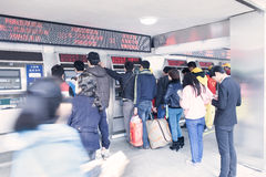 Buy train tickets for Spring Festival travel rush  Stock Photography