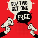 Buy Two Get One Free Royalty Free Stock Photos