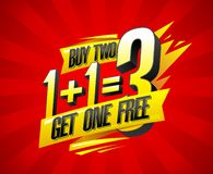 Free Buy Two Get One Free Sale Banner Design Royalty Free Stock Image - 164319086