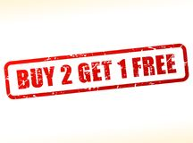 Buy two get one free text Stock Photos