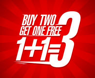 Buy Two Get One Sale Design. Stock Photography