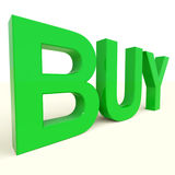 Buy Word In Green As Symbol for Commerce And Purchasing Royalty Free Stock Photos