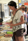 Buyer at book market in Holland Stock Images