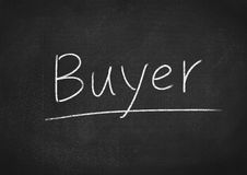 Buyer. Concept word on blackboard background royalty free stock image