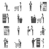 Buyer Icons Set Royalty Free Stock Photos