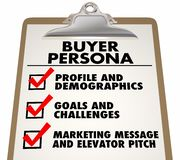 Buyer Persona Clipboard Checklist Customer Profile. 3d Illustration Stock Images