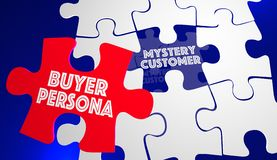 Buyer Persona Puzzle Piece Customer Profile. 3d Illustration Stock Photography