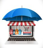 Buyer protection - e-commerce consumer Stock Photography