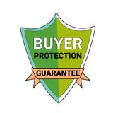 Buyer Protection Guarantee Shield Symbol Isolated Seal Icon. Vector Illustration Stock Photos