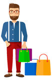 Buyer with shopping bags Royalty Free Stock Photos