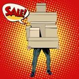 Buyer shopping sale Stock Photos